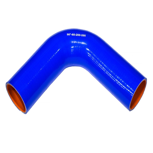 Патрубок угловой 60 200х200 90° силикон
