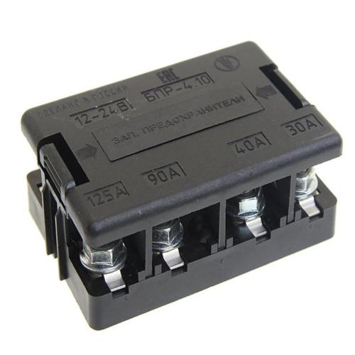 Блок предохранителей 4 вставки 30-40-90-125А БПР-4.10