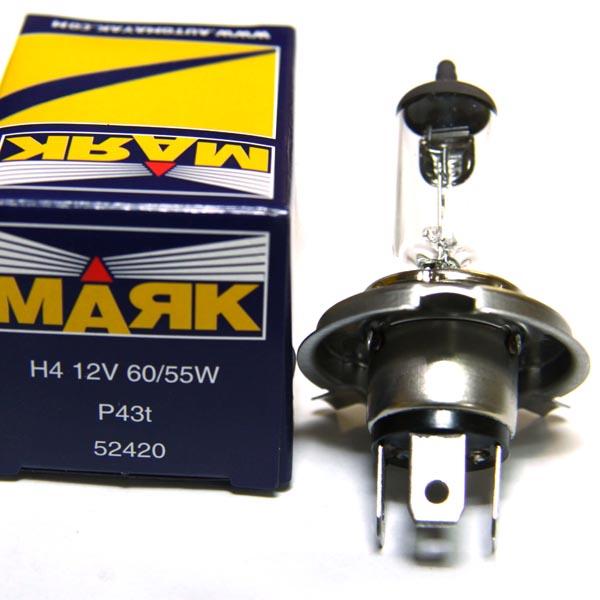 Лампа 12V H4 60/55W Маяк