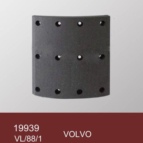 Накладка тормозной колодки VOLVO VL/88/1 std 19939 200х14/18х176 12 отв. к-т 8 шт